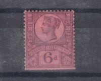 GB QV 1887 6d SG208 MLH J4964