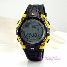 Omax Waterproof 10Bar Gents Ladies Unisex Chronograph Sports Alarm Yellow Watch