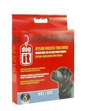 Dogit Soft Nylon Dog Muzzle Black Xx-Large 12 inch