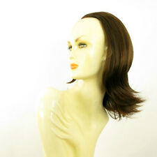DT Half wig HairPiece chocolate poly mesh copper 15.7 :18/6h30