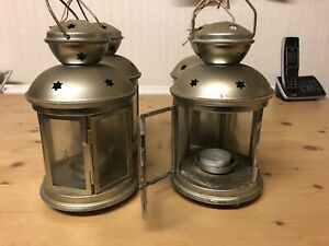 Metal Candle Lanterns Tealight Holders Vintage French Moroccan.