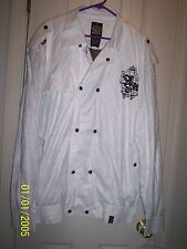 AKADemiks White Double Breasted Jacket Sz XL NWT