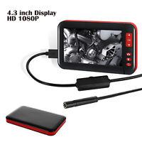 Car 1080P HD LCD Screen Soft Endoscope Bore scope Inspection Video Camera 4.3''
