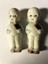 New listing 2 Vtg Ceramic Porcelain Japan Frozen Dolls Figures Little Twin Boy Figures