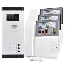 HOMSECUR 3Flats Door Video Intercom with 4.3'' Handset Monitor and IR HD Camera