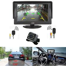 """Car 4.3"""" LCD Monitor + Wireless Night Vision 7 LED Rear View Backup Camera top"""