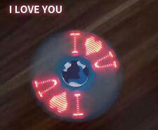 I LOVE YOU LED Message Letter Word Light Fidget Hand Spinner Finger EDC Gyro