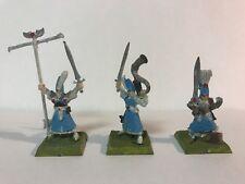 WHF Age of Sigmar High Elves Metal High Elf Spearmen Command vintage Aelves