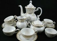 Seyei Fine China 1030 TEA SET Place Setting for 6 - 15 Pieces White & Gold Japan