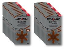 120 Pcs Rayovac Hg0 Extra Advanced Hearing Aid Batteries 312 Pr41 Brown EUK