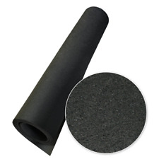Rubber-Cal Elephant Bark Floor Mat, Black, 3/16-Inch x 4 x 9-Feet