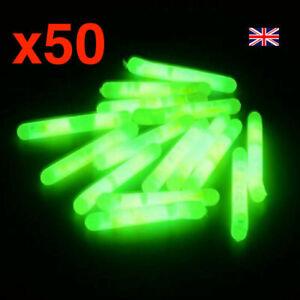 50pcs Glow Sticks Sea Carp Coarse Fishing Float Fluorescent Rod Tip Night Lights