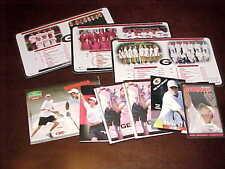 1998-05 Georgia Bulldogs Men's Tennis Schedule Lot (9)
