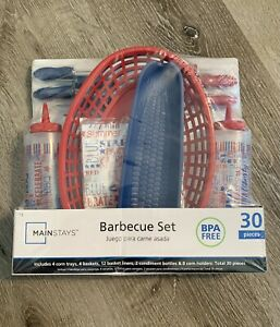 New Mainstays 30 Piece Barbeque Set BBQ Party Set BPA Free Brand New