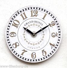 Uhr Wanduhr Quarzuhr Vintage Küchenuhr antik Design weiß Landhausstil Küche Deko