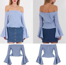 19b5208c433 Gingham Blue Tops   Shirts for Women