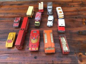 Collection of old Matchbox and Corgi cars