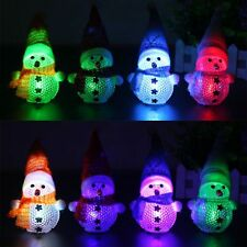 1Pc Snowman Santa Claus Ornaments Christmas Tree Decor LED Light Festival Decor