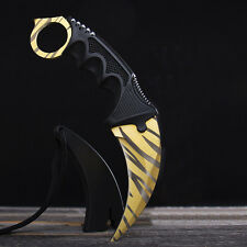 CSGO Counter Karambit GO Knife Skin CS Strike Real Knives Tiger Tooth Blade