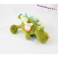 Peluche d'éveil dragon LILLIPUTIENS Walter vert grelot 26 cm (F8441)