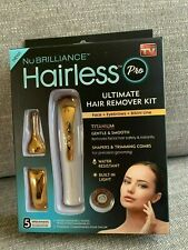 NuBRILLIANCE Hairless Pro Ultimate Hair Remover Kit, 5 attachments AS SEEN ON TV