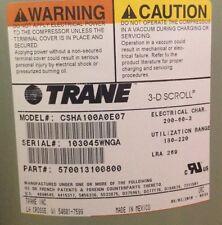 TRANE COM08486 CSHA-100A-0*07/CSHA-100A-0*0F,10 TON,200/60/3,BRAZE SWEAT,POE OIL