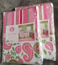 "Lot of 2 Trend Lab Paisley Park Nursery Valances 82"" x 15"" New #101556"