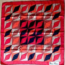 -Superbe Foulard  NINA RICCI  100% soie  TBEG  vintage scarf