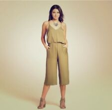 Xhilaration Women's Strappy Cropped Jumpsuit Satin In Seaweed Color. XXL