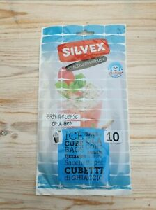 Silvex 10 Clear Freezer Crushed Ice Cube Bags Easy Release   CHEAPEST FREE POST