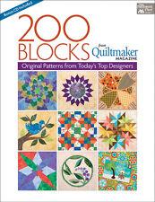 Pattern Book ~ 200 BLOCKS FROM QUILTMAKER'S MAGAZINE ~ Bonus CD