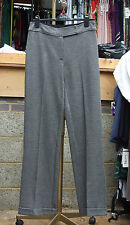Joseph Ribkoff BNWT UK 10 Exquisite Grey Fine Check Wide Leg Dressy Trousers FAB