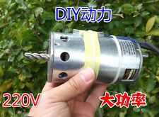 1pcs 220V DC motor 100W 1600-5000rpm High-speed High Power Large torque DIY