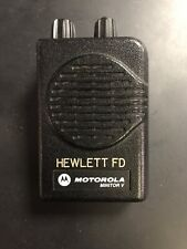 Motorola Minitor V 5 Low Band Pager 45-49 Mhz Non-Stored Voice See Pics