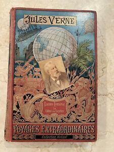 Jules Verne - Claudius Bombarnac - Hetzel - Portrait Collé - Édition originale