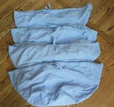 4 Pottery Barn Kids Blue Gingham Check Sabrina Basket Liners Size Xl Extra Large