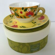 Spode Kim Parker Home BUTTERCUP FAIRE Coffee Tea Cup & Saucer Set NEW In Box