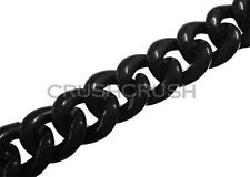 1 Meter Acrylic CHUNKY Link Chain Connector Black Colors Chains DIY Connect A85