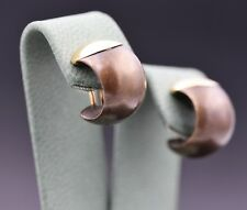 Isabelle Fa Bronze Earrings with 18k Rose Gold Accent and Clips