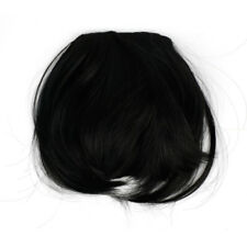 Short Front Neat bangs Clip fringe extensions straight Synthetic Natural human