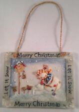 Snowman Plaque (Hanging Merry Christmas/Let it snow)