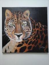 TABLEAU Panthere  Félin peinture acrylique sur toile Nadine PETRY