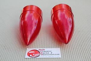 59 Cadillac Custom Harley Hot Rat Rod Frenching Taillamp Light Bullet Lenses Red