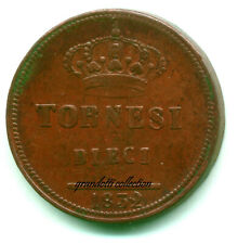 REGNO DUE SICILIE 10 TORNESI 1832 FERDINANDO II DI BORBONE MONETA RAME