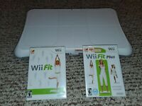 Genuine Nintendo Wii Fit Balance Board with Wii Fit & Wii Fit Plus *Tested*