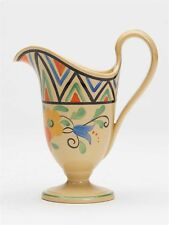 ART DECO WEDGWOOD MILLY TAPLIN FLORAL PAINTED CREAM JUG