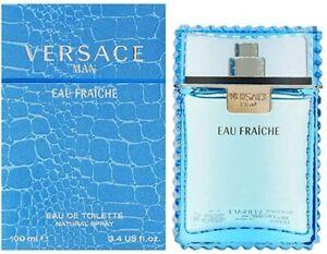 Versace Man Eau Fraiche Eau de Toilette 100ml EDT Spray Brand New Boxed FREE P&P