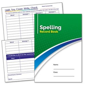 3 School Learning Record Book Pack Spelling Practice Book Diary Planner Pack