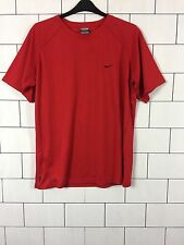 MENS URBAN VINTAGE RETRO ATHLETIC RED NIKE CLIMA-FIT T SHIRT TOP SIZE XXL