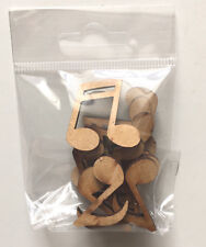 Music Notes - Wooden Shapes - Mixed Pack - Great for Crafts - 10 Pack